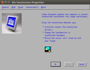 Allineamento video per touchscreen di Elo
