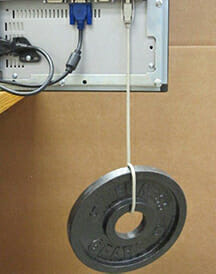 Illustrating the strength of our USB cable retention bracket