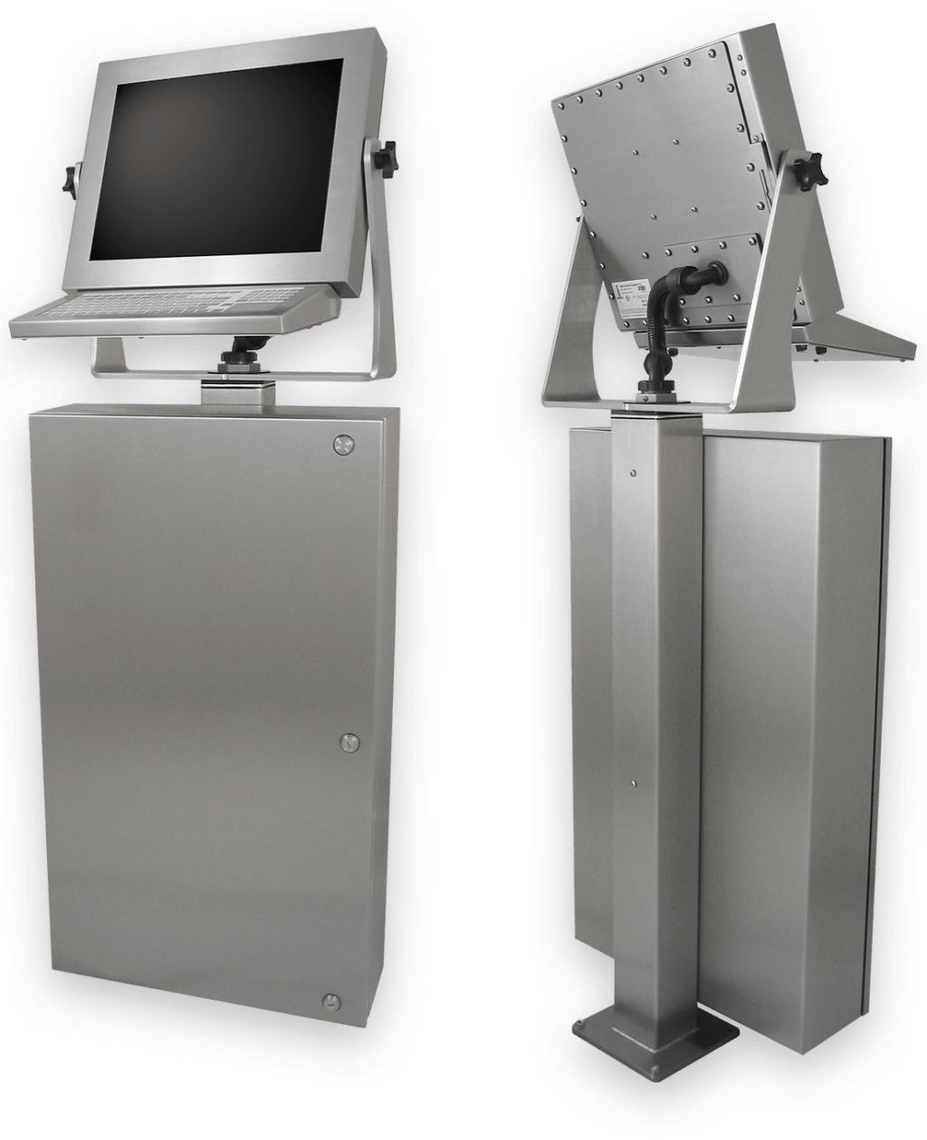 Workstation con touchscreen industriali e grado di protezione IP65/IP66 per il reparto produzione
