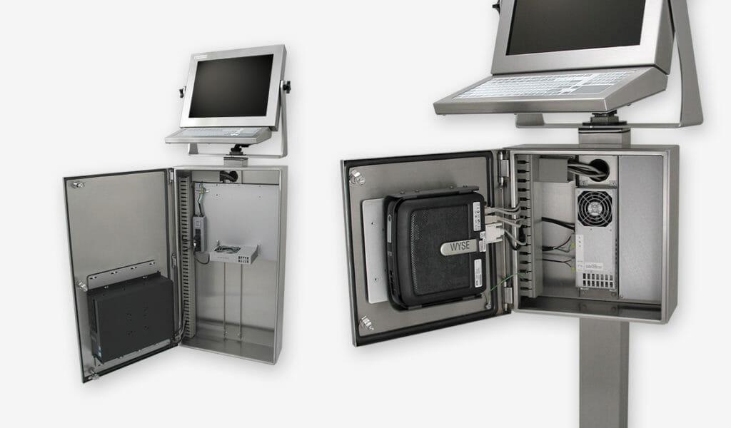 Enclosure industriali per PC e thin client