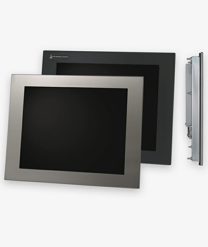 "Monitor industriali da 17"" per montaggio a pannello e touchscreen rugged IP65/IP66, storia"