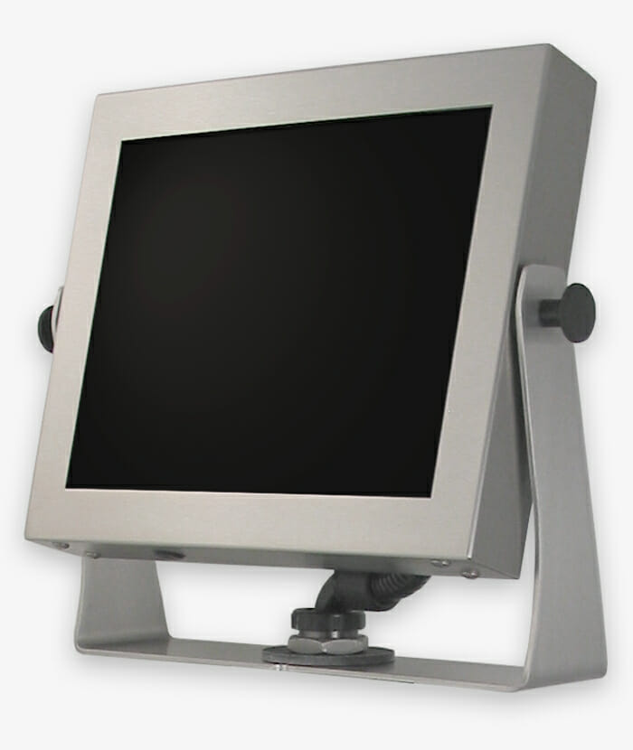 "Monitor industriali da 15"" per montaggio universale e touchscreen rugged, fully enclosed, IP65/IP66, storia"