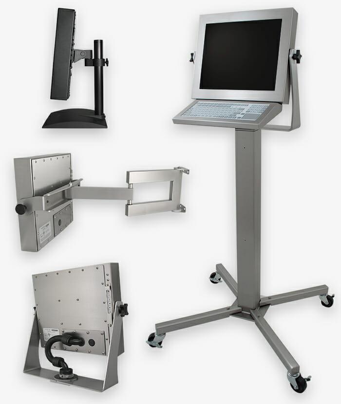 Opzioni di montaggio industriali per monitor per montaggio universale