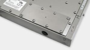 Piastra di copertura con foro pilota IP65/IP66 per monitor industriali per montaggio universale