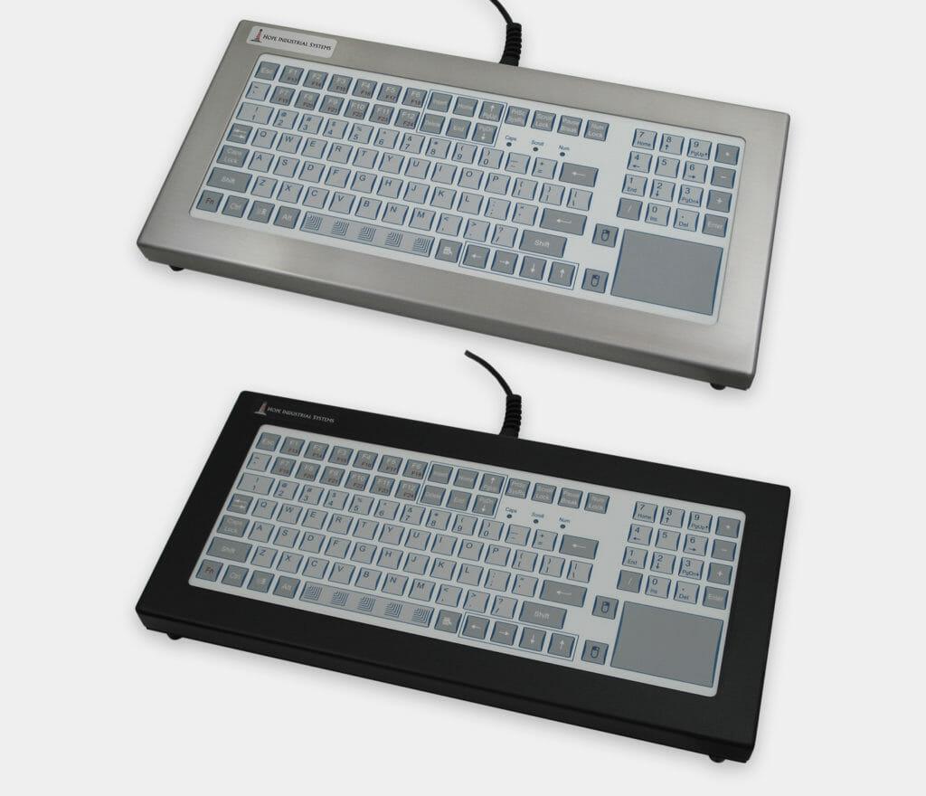 Tastiere industriali da banco a corsa breve con touchpad, grado di protezione IP65/IP66