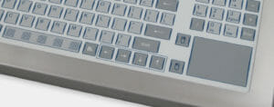 Tastierino ip22 a tastiera da banco standard con touchpad