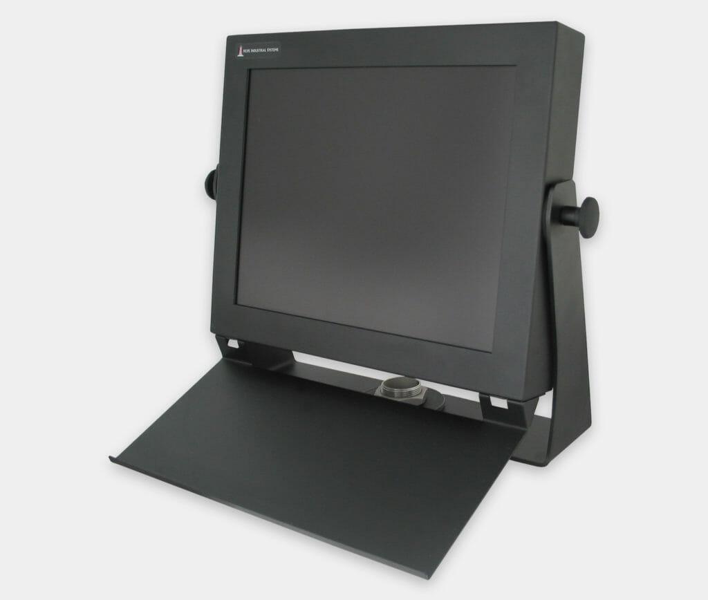 Ripiano per tastiere industriali da fissare a monitor per montaggio universale