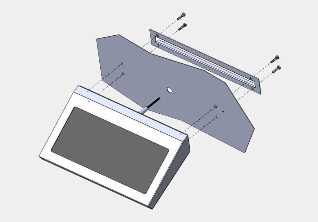 Diagramma per montaggio per tastiere industriali fisse per montaggio a parete
