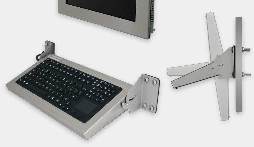 Tastiere industriali pieghevoli per montaggio a parete con dispositivo di puntamento, grado di protezione IP65/IP66