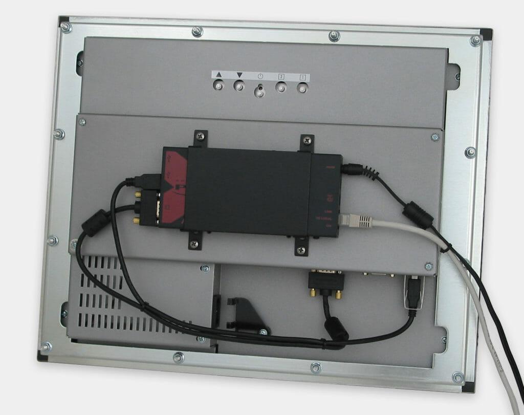 Prolunga KVM USB industriale da 300 m, montaggio VESA su monitor per montaggio a pannello