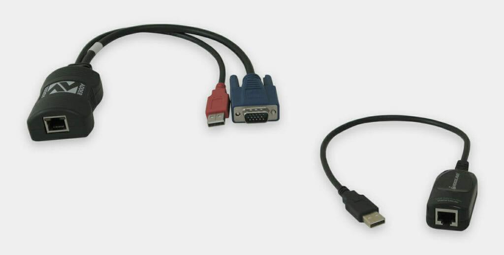 Unità VGA e USB locali KVM industriali da 60 m