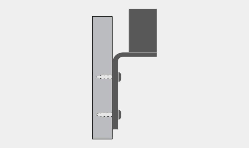 Montaggio a parete inverso opzione