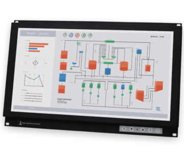"Monitor industriali da 19,5"" formato widescreen per montaggio a rack e touchscreen rugged IP20"