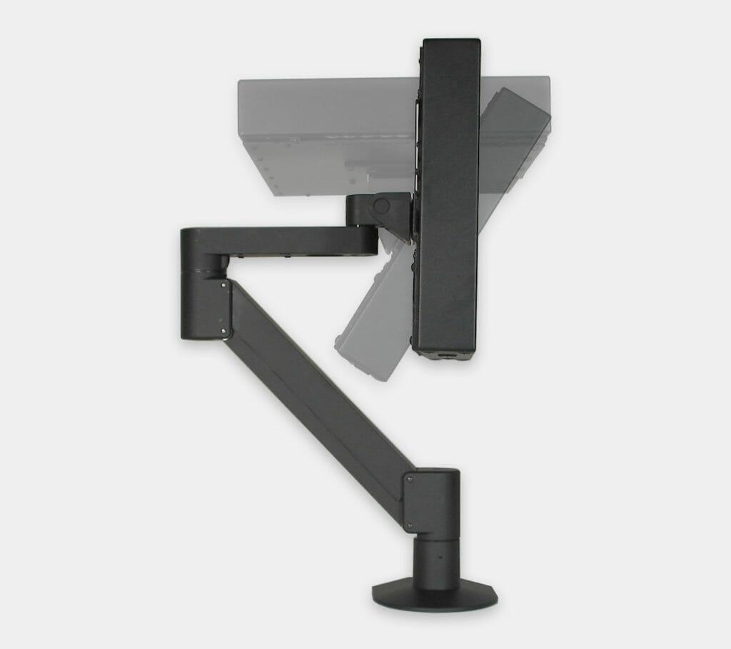 Braccio radiale VESA per monitor industriali, gamma di inclinazione del monitor