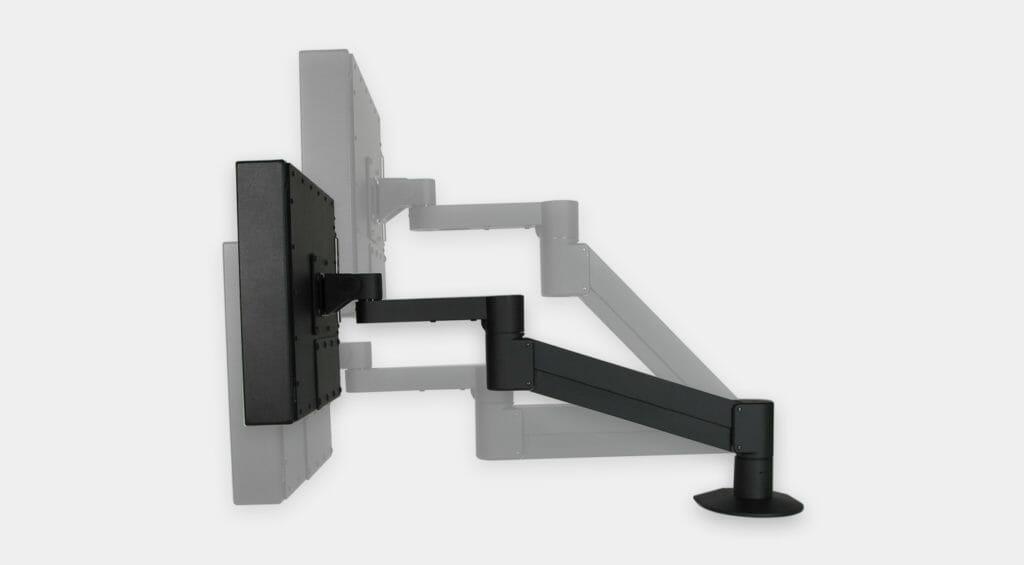 Braccio radiale VESA per monitor industriali, gamma di regolazione verticale