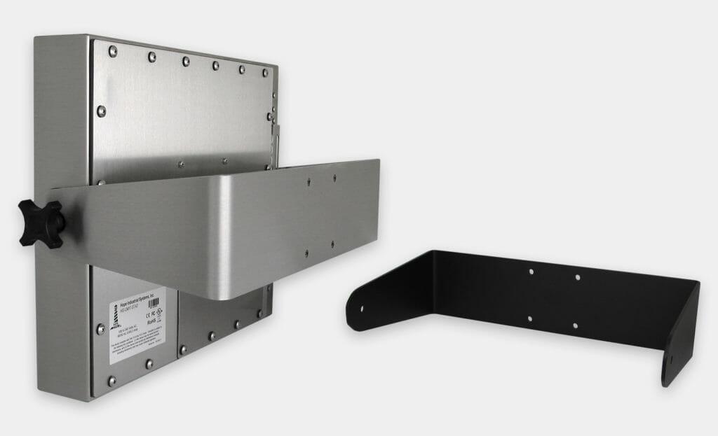 Staffe a forcella industriali per montaggio a parete per impieghi gravosi per monitor per montaggio universale, grado di protezione IP65/IP66