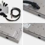 Piastre per uscita cavi per monitor e touchscreen industriali fully enclosed per montaggio universale